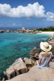 View of the southern tip of La Digue