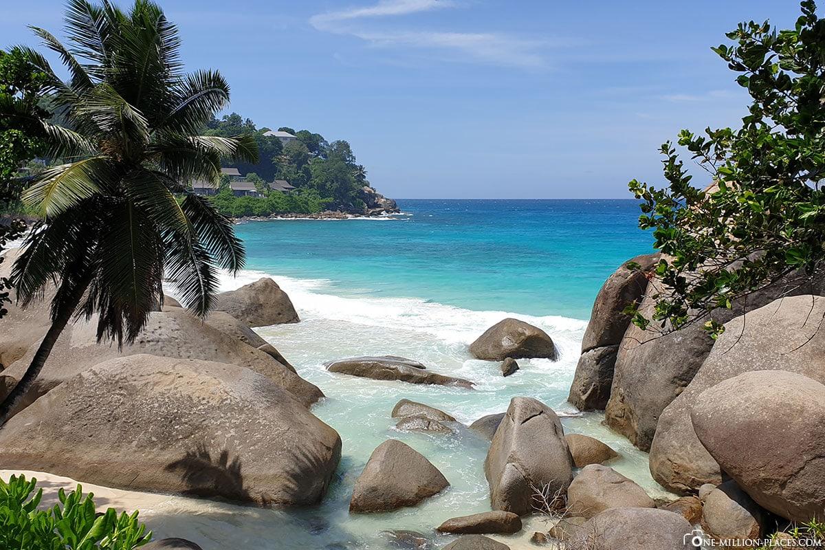 Traumstrand, Beau Vallon Beach, Mahe, Seychellen, Westküste, Strand, Reisebericht