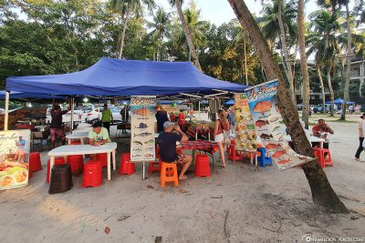 Stand at Beau Vallon Food Market