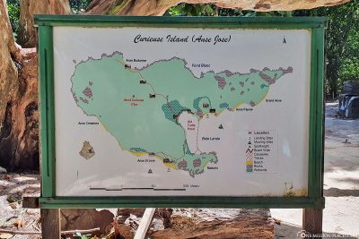 A map of Curieuse Island