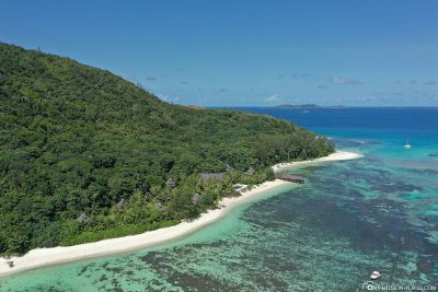 The east coast of Praslin