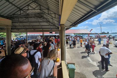 The Ferry Terminal in Mahé