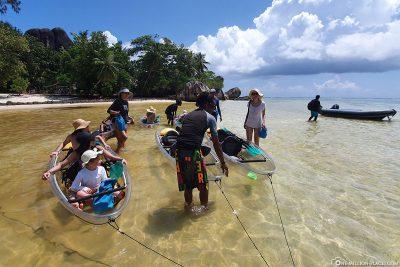 The start of our kayak tour