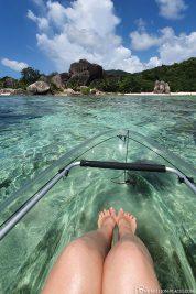 The transparent kayaks