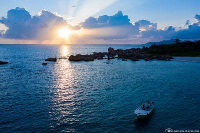 Sunset at Anse Marron