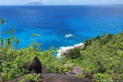 Der tolle Blick auf die Küste