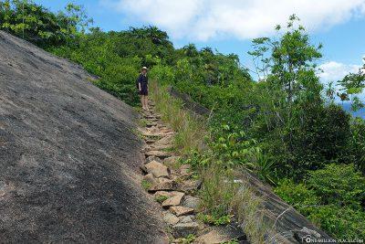 Der Wanderweg zum Anse Major