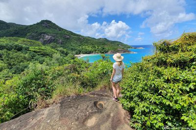 The viewpoint on the Anse Major