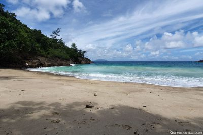 The beach of Anse Major
