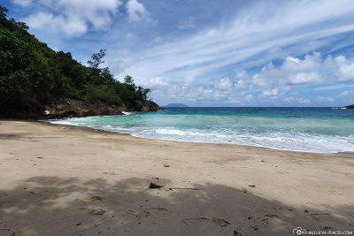 Der Strand des Anse Major