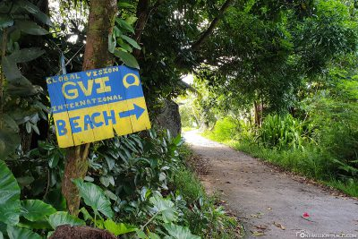 Der Weg zum Baie Ternay Beach