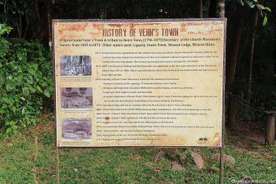 Info sign at Venn's Town