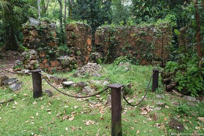 The remains of an old house