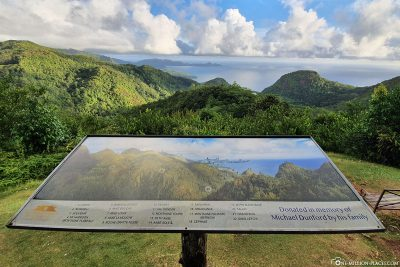 View of the west coast of Mahé