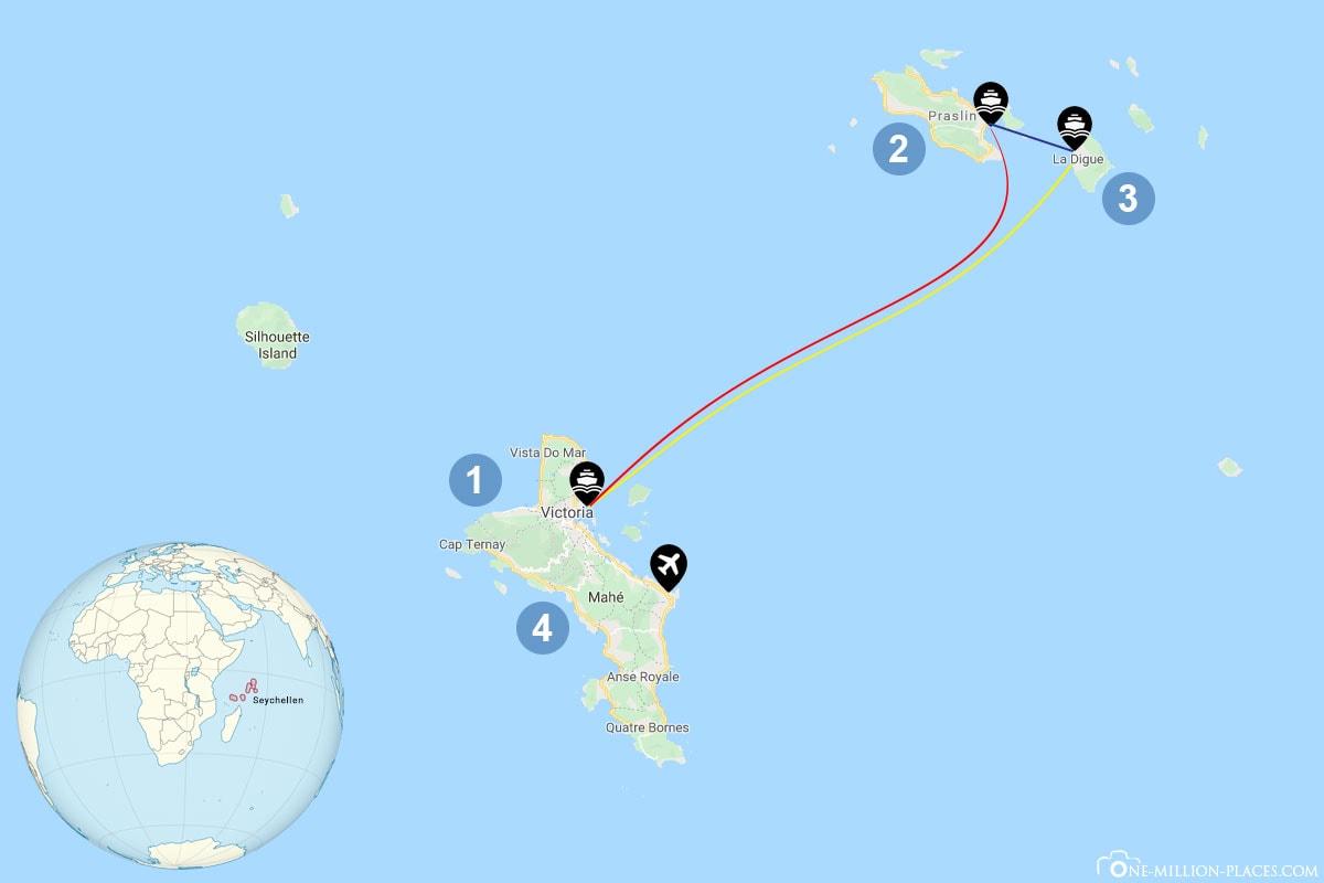 Travel planning island hopping Seychelles