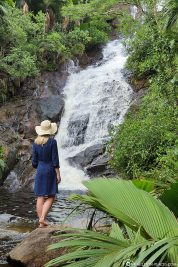 View of the Sauzier waterfall