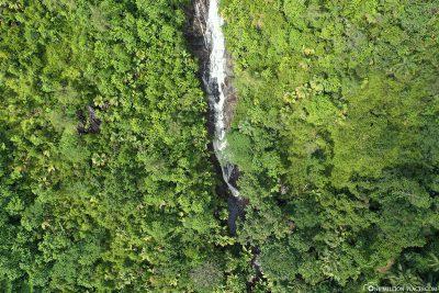 Drone shot Sauzier waterfall