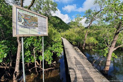 Info sign for the Port Launay Mangrove Forest