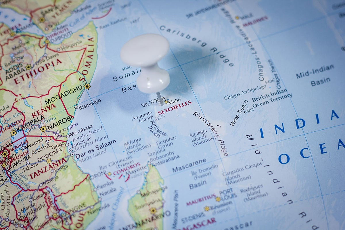 Seychelles, Map, Map, On the Globe, Location, Travelogue
