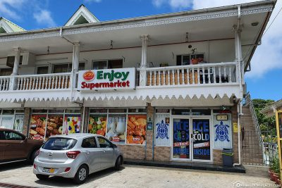 A typical supermarket in the Seychelles