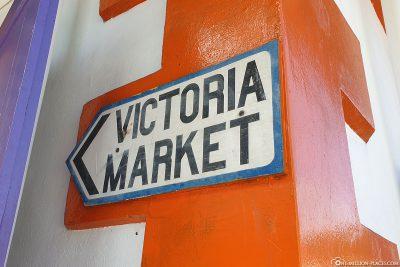 Wegweiser zum Victoria Market