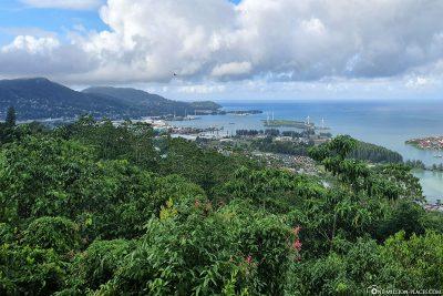 Blick vom La Misere Viewpoint auf Victoria