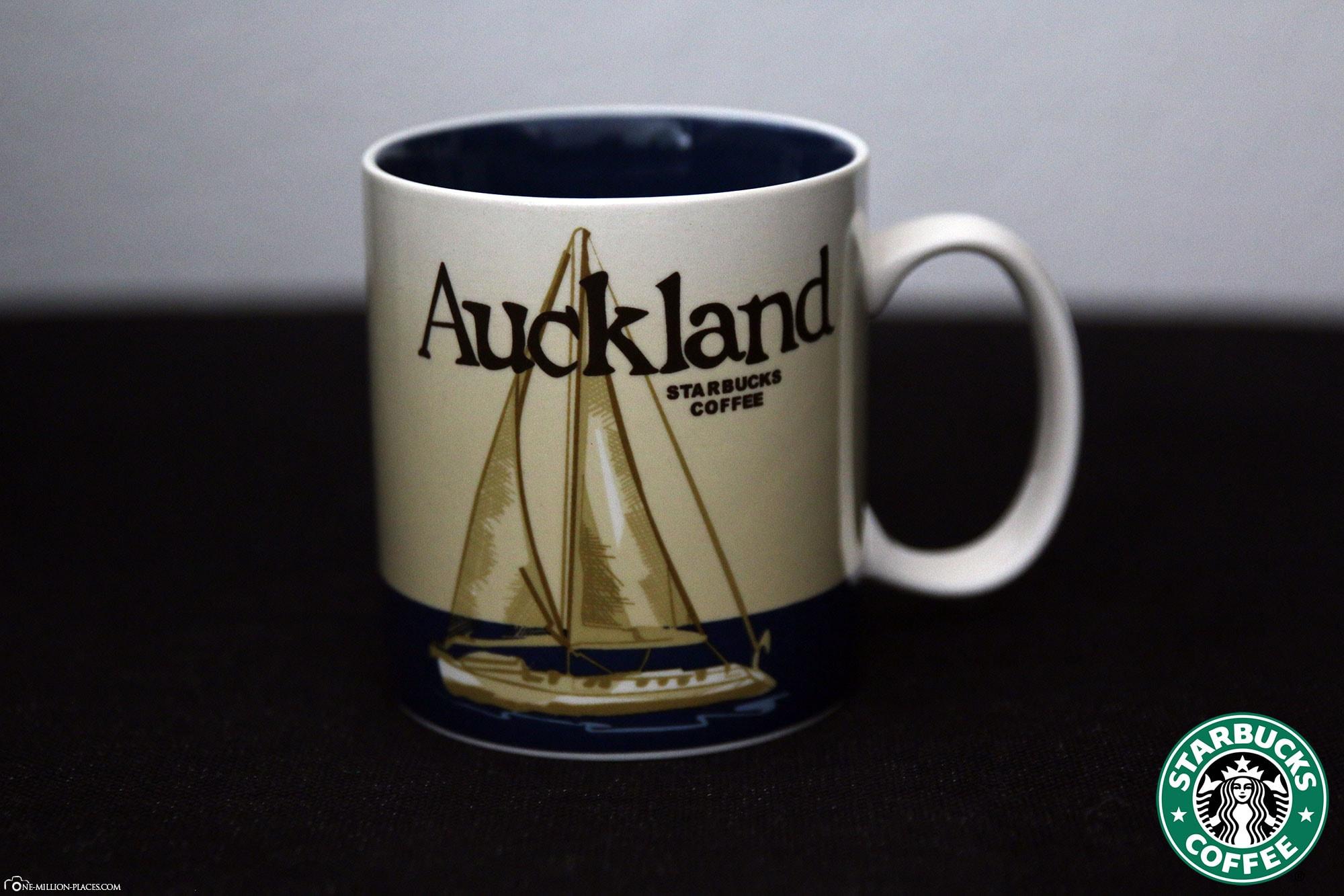 Auckland, Starbucks Tasse, Global Icon Serie, City Mugs, Sammlung, Neuseeland, Reisebericht