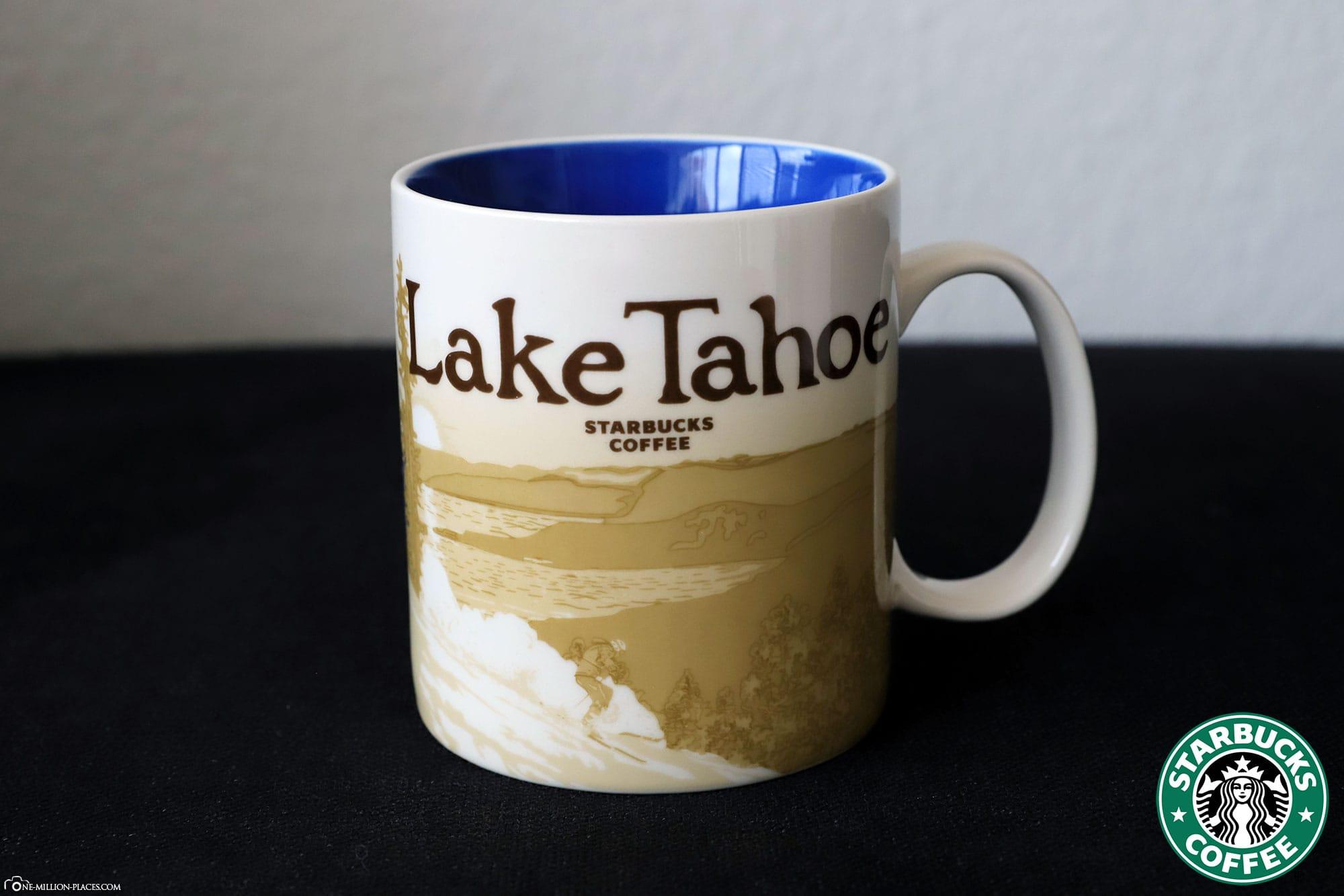 Lake Tahoe, Starbucks Tasse, Global Icon Serie, City Mugs, Sammlung, USA, Reisebericht