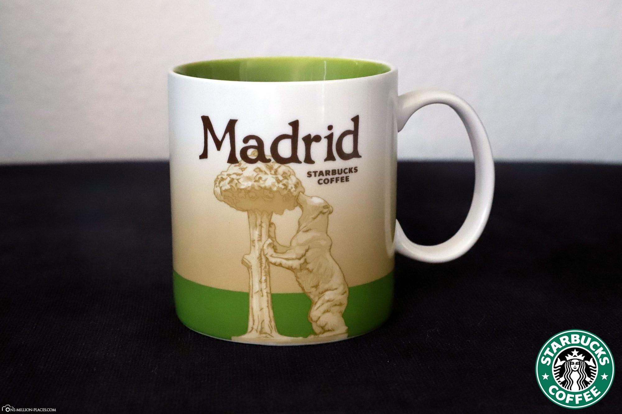 Madrid, Starbucks Tasse, Global Icon Serie, City Mugs, Sammlung, Spanien, Reisebericht
