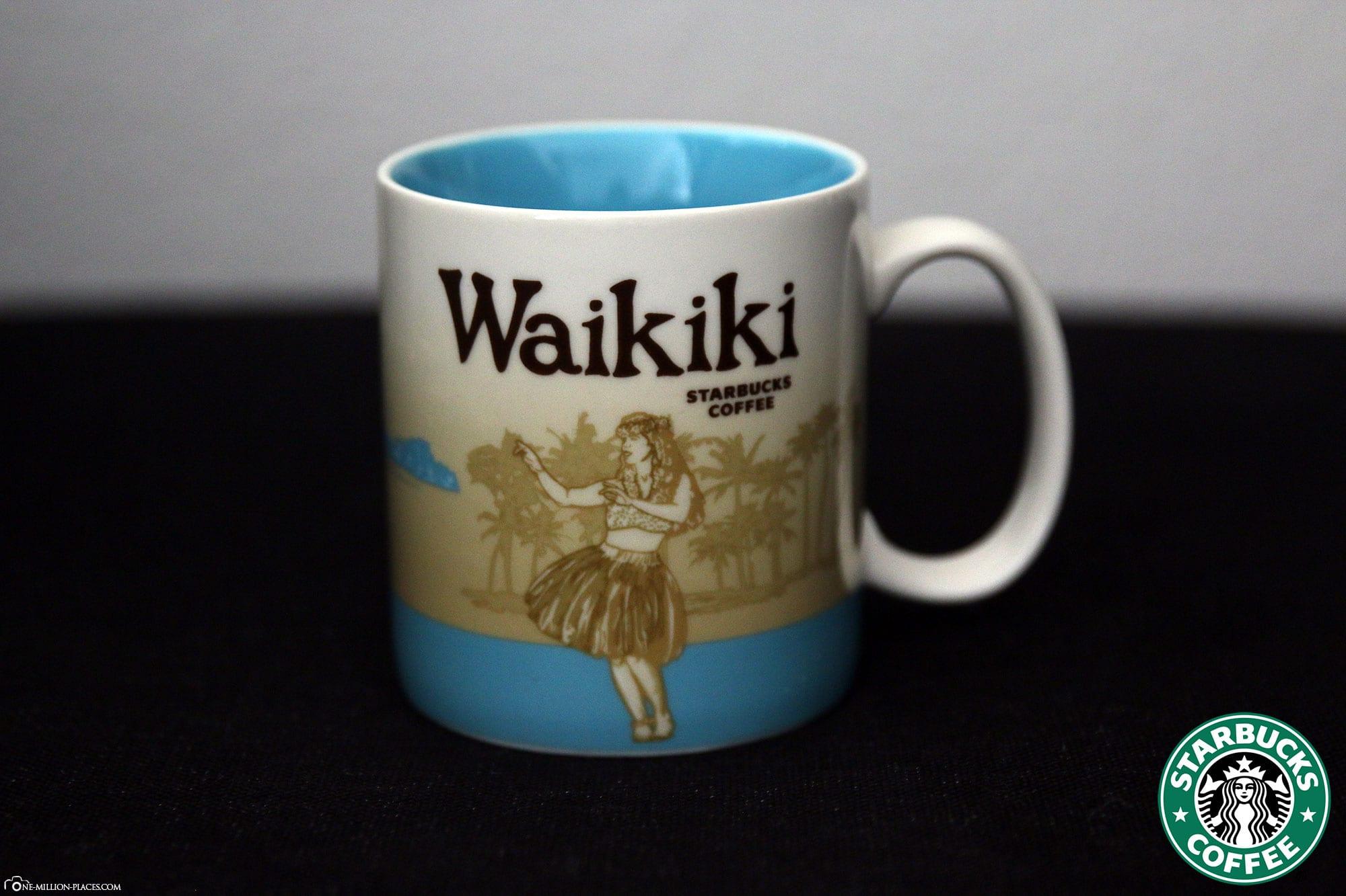 Waikiki, Starbucks Cup, Global Icon Series, City Mugs, Collection, Hawaii, Travelreport