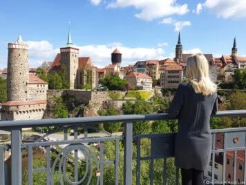 Blick von der Friedensbrücke