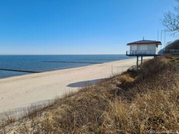 Der Strandabschnitt in Koserow