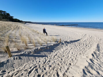 Der Strandabschnitt in Zempin