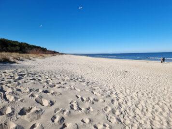 Der Strandabschnitt in Zinnowitz