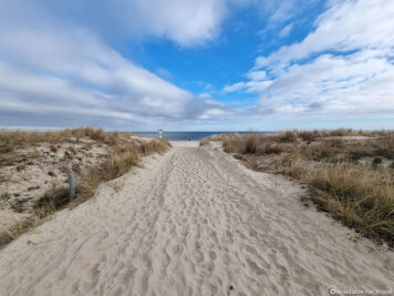 Strandzugang in Ahlbeck