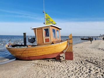 Die letzten Strandfischerboote