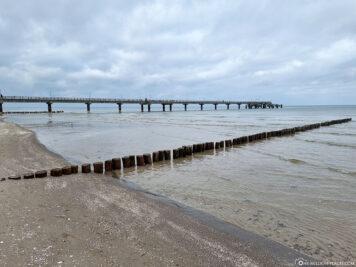 Der Strandabschnitt in Bansin