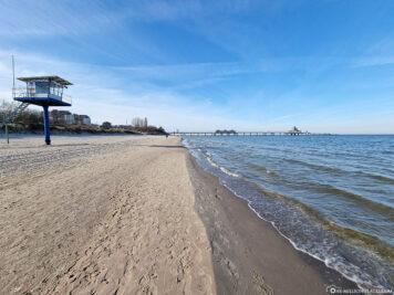 Der Strand in Heringsdorf