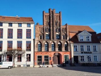 East side of the Greifswald market square