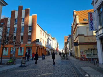 The city centre of Greifswald
