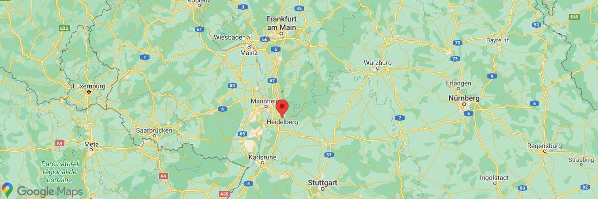 Heidelberg Map Location