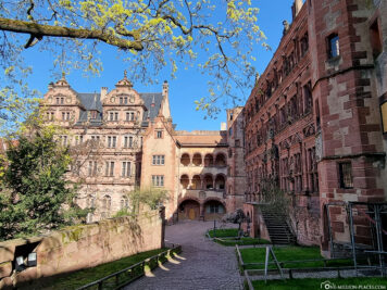 The castle courtyard