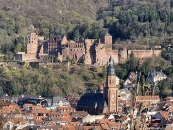View of the castle and the old town