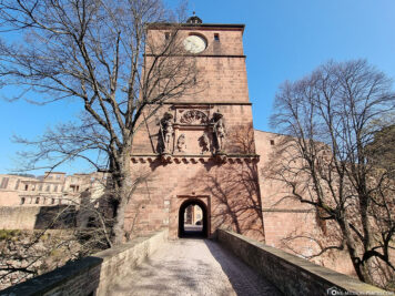 The bridge to the gate tower