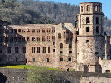 The east side of the castle