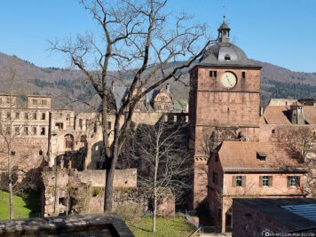The south side of the castle