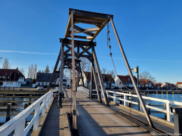 Historic folding bridge in the district of Wieck