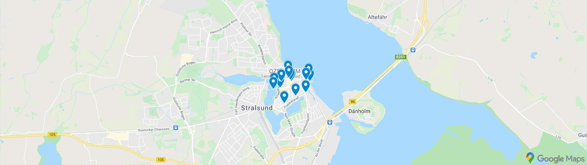 Stralsund Karte Sehenswürdigkeiten