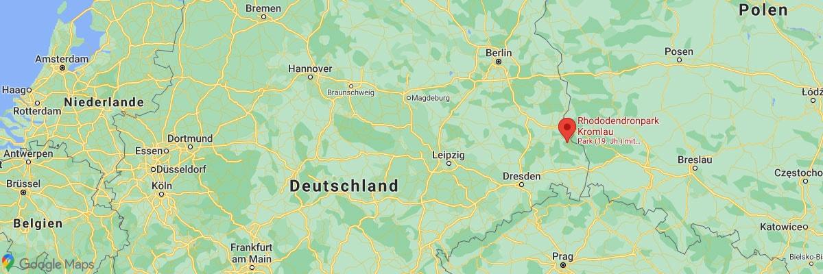 Karte, Kromlau, Rhododendronpark, Rakotzbrücke, Plan, Deutschland
