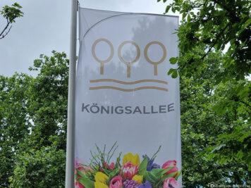 Die Königsallee in Düsseldorf